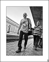 El pasajero / The passenger (A. Jimnez) Tags: b bw espaa alex tren j spain bn cartagena estacin belmonte jimenez pasajero a trayo