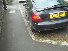 Awaiting Repair (occama) Tags: uk ford car duct cornwall tape bumper damaged cracked mondeo gaffa v521ehy