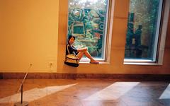 Helen (katy.wang) Tags: windows summer portrait sunlight newyork film museum 35mm artgallery helen met metropolitanmuseumofart metmuseum olympusmju1