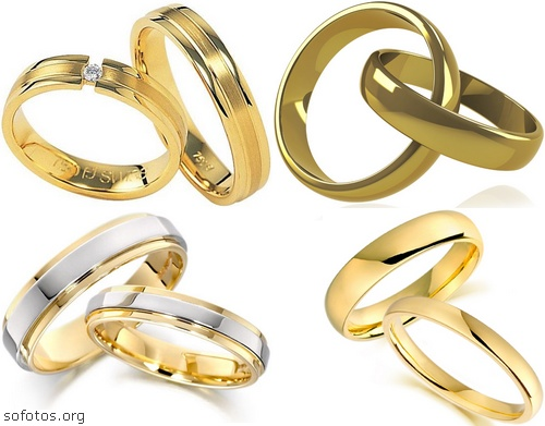 Alianças de casamento de ouro
