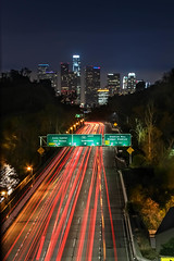 Los Angeles (Crystal_rivera) Tags: city longexposure night la losangeles freeway nightlife dtla ilovela citybynight