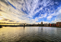 The Millennium Bridge in the Evening (Anatoleya) Tags: bridge 3 st thames clouds canon river evening cathedral mark iii sigma pauls millennium 5d 1224mm hdr mk 5d3 anatoleya