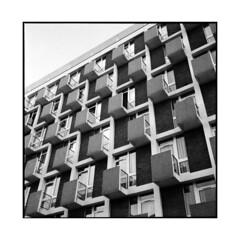rhythm • paris, france • 2013 (lem's) Tags: paris france building rolleiflex university université cité balconies 35 immeuble internationale planar balcons