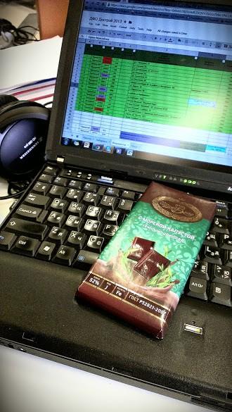 фото: Chocolate with sea kale