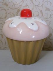 Cupcake Trinket Jar (Debenhams) (**Cupcake Boutique**) Tags: silver ceramic cherry cupcakes sprinkles jar trinket pinkandwhite debenhams