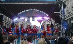 NFL cheerleaders (hobbitbrain) Tags: london football cheerleaders nfl regentstreet americanfootball wembley minnesotavikings pittsburghsteelers capitalfm 2013 vikingscheerleaders internationalseries