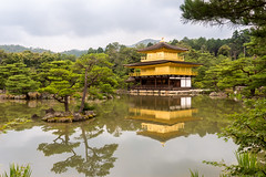 Kinkaku, the Golden Pavilion (koalie) Tags: vacation water japan temple pond kyoto day cloudy buddhist kinkakuji goldenpavilion rokuonji mirrorpond kyotoprefecture kykochi shariden 2013060727japan