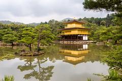 Kinkaku, the Golden Pavilion (koalie) Tags: vacation water japan temple pond kyoto day cloudy buddhist kinkakuji goldenpavilion rokuonji mirrorpond kyotoprefecture kyōkochi shariden 2013060727japan