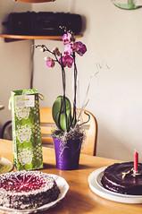 aufmerksamkeiten (lina zelonka) Tags: flowers cake vertical 50mm gifts presents nikond90 ivvymillion