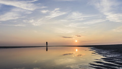 Schiermonnikoog (nielsgn) Tags: sunset holland beach nature water netherlands clouds reflections landscape island sand schiermonnikoog
