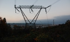 Coquitlam BC Canada (Ian Threlkeld) Tags: autumn fall nikon scenery powerlines electricity utilities transmissiontowers transmissionlines d80 uploaded:by=flickrmobile flickriosapp:filter=nofilter bchydro500kvtransmission