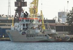 Hochseeschlepper UNION SOVEREIGN in der Werft in Gdansk (zeesenboot) Tags: ship poland polska polen tugboat tug schiff gdansk danzig gdańsk schlepper remorqueur shipspotting holownik буксир unionsovereign