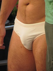 Bent-Con (CAHairyBear) Tags: vpl speedos bulge bentcon