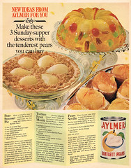 Vintage Ad #2,312: New Ideas From Aylmer For You (jbcurio) Tags: food pears desserts recipes vintagead