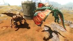 Colossus vs Brilliant Leviathon ... (tend2it) Tags: game texture monster pc screenshot dragon xbox v pack rpg immersive elder creatures brilliant mods colossus enb dlc scrolls ps3 leviathon secv skyrim sweetfx tesv
