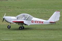 G-CCDX - 2003 build Aerotechnik EV-97 Eurostar, now Barton based (egcc) Tags: manchester eurostar barton microlight syndicate pfa cityairport ev97 aerotechnik gccdx egcb rotax912 31514013