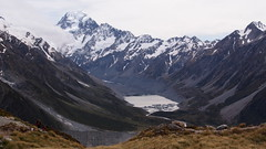 Mt Cook and the Hooker Valley (blue polaris) Tags: park new mountain lake alps river landscape island spring scenery track mt hiking south cook olympus glacier mount southern hut zealand national valley nz doc hooker range tramping omd mueller aoraki sealy em5