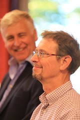 Nick Young and John Simkins at Casa della Memoria