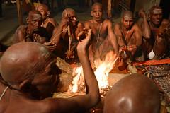 Sadhu Initiation (Leonid Plotkin) Tags: india festival religious asia religion celebration ritual hindu hinduism mystic sadhu ascetic holyman initiation allahabad kumbhmela kumbh kumbhamela sanskar