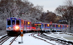 Santa heads for the loop (yooperann) Tags: park santa holiday chicago forest train cta authority transit chirstmas chicagoist experess