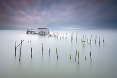 Mikado (CResende) Tags: longexposure seascape motion color portugal water pier sticks state decay fineart le setbal mikado carrasqueira cresende
