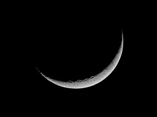 Waxing Crescent Moon - January 3, 2014