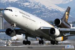 N284UP - McDonnell Douglas MD-11F - United Parcel Service (UPS) (KarlADrage) Tags: alaska ups anchorage unitedparcelservice md11f n284up tedstevensintl