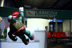 Crossing the Line (Rafael Pealoza) Tags: toy airport band 365 raphael calabria tmnt lamezia lameziaterme oneobject365daysproject 365toyproject