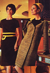 Sears 67 fw dress and coat (jsbuttons) Tags: winter clothing 60s buttons sears coat womens 1967 catalog sixties vintagefashion doublebreasted