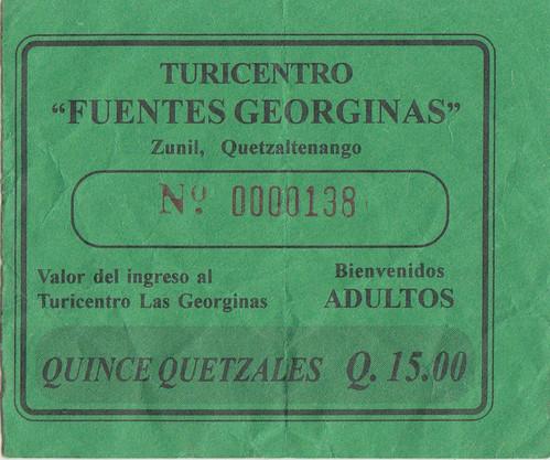 Ticket to Fuentes Georginas