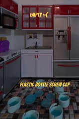 Making Blythe plate out of plastic bottle screw cap - Part 1/3 (omgdolls) Tags: plate playscale