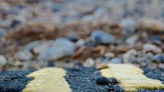 Hit the Road Jack (Rusty Marvin - JohnWoracker.com) Tags: road uk winter sea england urban black beach lines tarmac yellow stone seaside ray harbour britain stones top decay no dunes charles pebbles hampshire double pebble where isleofwight solent foreshore bembridge duver hittheroadjack