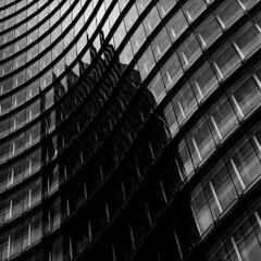 Utrecht stationsgebied (Pim Geerts) Tags: windows reflection 6x6 film glass station architecture analog square mirror utrecht fuji nederland bronica neopan 100 glas architectuur sqa gebouw rabo acros