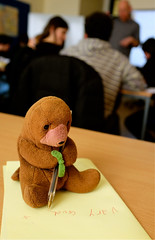 At Work (apricot's) Tags: pen teacher otter 365 odc 2014yip
