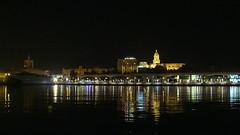 (Sa Shula de Tarifa) Tags: light sea night puerto luces noche harbor mar cathedral catedral mlaga