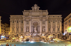 Fontana di Trevi by night (NykO18) Tags: italy panorama sculpture rome roma art monument fountain statue europe trevifountain manmade fontanaditrevi lazio basrelief panoramicview lowrelief