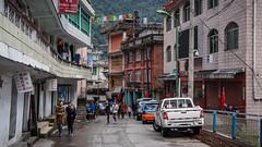 Городок Жангму на границе Тибета и Непала