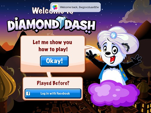 Diamond Dash Main Menu: screenshots, UI