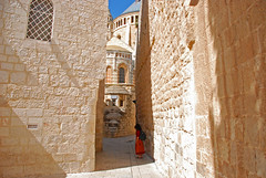 Dormition Abbey, Jerusalem (simpsongls) Tags: church architecture israel ancient alley stonework mary jerusalem religion jesus walls ziongate mountzion dormitionabbey