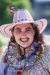 ajbaxter140709-0529 (Calgary Stampede Images) Tags: canada calgary volunteers alberta clowns calgarystampede 2014 dta ropesquare ajbaxter downtownattractionscommittee