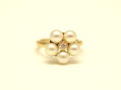 ベビーパールのリング 4mm sized baby Akoya pearl Ring (jewelrycraft.kokura) Tags: diamond pearl 2years akoya 4mm k18 babypearl ダイヤ イエローゴールド ベビーパール