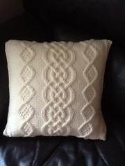 Cabled Aran Cushion (Alfin_Crafts) Tags: knit pillow cables cushion aran