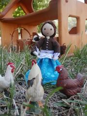 Miniature Farmers wife doll (wildflowertoys) Tags: woodentoys dollhousedolls toybarn bendydoll naturaltoys waldorftoys elvesandangels dollhousefamily toystable wildflowerinnocence