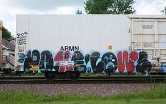 Popquiz/Lowe (quiet-silence) Tags: railroad art train graffiti railcar unionpacific graff sws d30 freight reefer wh lowe armn fr8 popquiz a2m armn110011