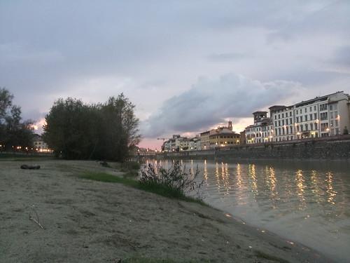 Le fleuv Arno à Florence