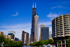 Chicago Skyline (Brett Landrum) Tags: chicago chi chicity chitown wrdsmth thebean bean wills tower metro photography canon7d 7d streetart street art urbanart urban city windycity