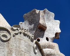 barcelona casa mila (4) (kexi) Tags: barcelona catalonia spain europe gaudi stone mosaic detail sky blue samsung wb690 casamila september 2015 instantfave
