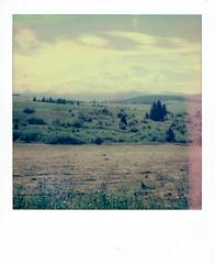 (kubakozal) Tags: polaroid sx70 impossible color slovakia bicycle route mountains tatra tatry landscape holiday polaroidweek roidweek2016