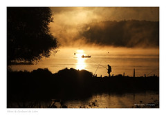 Une Loire en or! (Bruno-photos2013) Tags: loire loireatlantique paysageligrien landscape paysagelandscape leverdujour sunset fleuve river soleil brume fog reflets reflexion