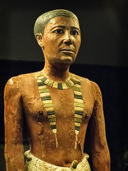 Closeup of Funerary portrait statue of Metjetji Saqqara Egypt Old Kingdom probably late 5th Dynasty 2375-2345 BCE Wood (mharrsch) Tags: portrait sculpture funerary man male saqqara egypt ancient oldkingdom 5thdynasty 24thcenturybce statue nelsonatkinsmuseum kansascity missouri mharrsch